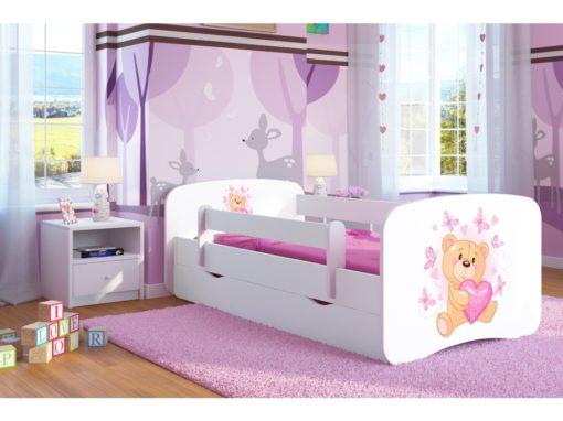 Otroška postelja Bear with Butterflies - Bela